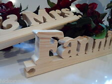 Wedding Mr and & Mrs Name Plaque Sign Personalised Handmade Wood Letter
