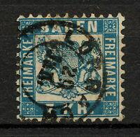 (YYAR 106) Baden 1871 USED Mich 25b Scott 28a Germany