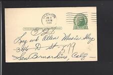 DECATUR, ILLINOIS 1948 GOVERNMENT POSTAL CARD,P.RICHARDS CO ADVT PIANOS FOR SALE