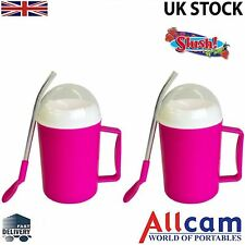 2 Pack: Allcam Pink Magic Ice Slush and Chilled Drinks Maker:Icy Slushie Fast