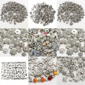 Lots Mixed Tibet Silver Beads Spacer For Jewelry making European Bracelets DIY