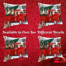 Christmas Santa Express Delivery Red Truck Pillow, Dogs, Cats, Pet Pillows