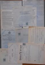 #8436 Greece lot of 9 insurance Companies documents some w/ revenues 1940-1941