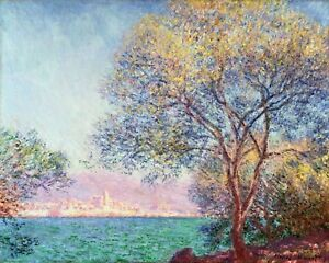 Antibes In The Morning by Claude Monet, Giclee Canvas Print, various sizes