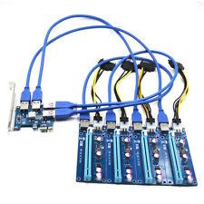 PCI-E Express 1X Expansion Kit 1 to 4 Port 16X Riser Card Switch Multiplier Hub