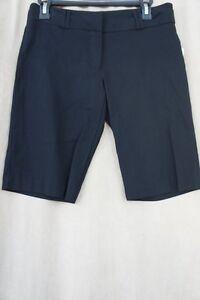 XOXO Shorts Juniors Sz 1 / 2 Black Dressy Boyfriend Trouser Shorts Faux Pocket