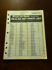 1998  SNAP-ON Tools  Dealer Net Price List November 30 1998