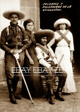 FOTO SOLDADOS Y SOLDADERAS DE LA REVOLUCION - MEXICANA MEXICAN REVOLUTION PHOTO
