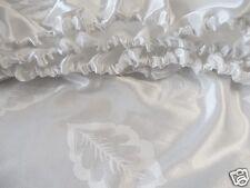 Spannbettlaken Glanzsatin mit Baumwolle gemustert Weiß Größe 100 cm x 200 cm