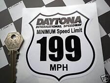 Daytona International Speedway 199mph vitesse limite autocollant voiture de course circuit glisser