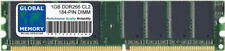 1GB DDR 266Mhz PC2100 184-Pin Memoria Dimm RAM per Desktop / PZ / Schede madri