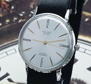 Poljot De Luxe ULTRA SLIM 2209 Dress Mechanical WristWatch Vintage Style USSR