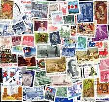 Canada 500 timbres différents oblitérés