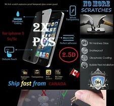2X 2.5D 9H Premium Tempered Glass Apple iphone 5 5s 5C SE Screen Protector cover