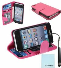 Photo ID Leather Wallet Stand Case Cover For APPLE iPod Touch 5th 6th Generation