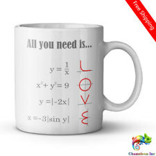 Smart Design Math Style LOVE Pattern All you need is LOVE Ceramic Coffee Tea Mug