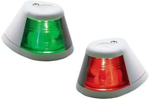 Perko 2-Mile White Boat Side Lights - Horizontal Mount - Red & Green Pair - 12V