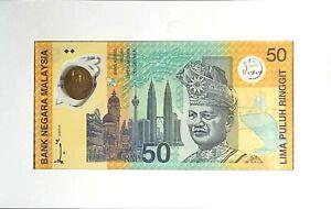 1998 MALAYSIA 50 Ringgit SUKOM NINET EIGHT BERHAD Commemorative(+1 note)#11853