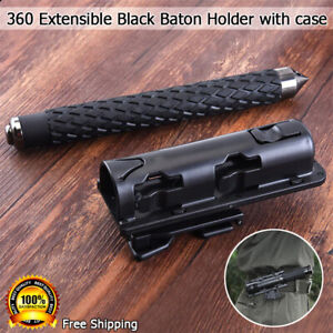 360' Rotation Retractable Baton Holder Holster Universal Extensible EDC Outdoor