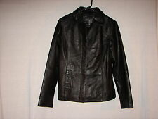New York Company Soft Leather Coat Jacket Size x-small ~ Leather Black Color