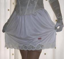 Sedoso Crema Claro nailon ENCAJE Enagua mini Media lencería nuevo empaquetado