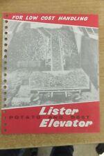 lister potato & beet elevator vintage antique farm machinery implement