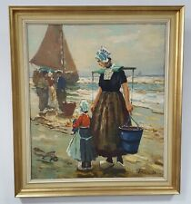 Harry Haerendel *1896-1991 Gemälde Holländerin Wandbild Öl auf Leinwand 70x80 cm