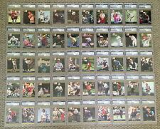 1990 GOLF PGA Tour PROSET Signed Full 100 CARD SET PSA/DNA Palmer Stewart & More
