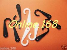 Plastic hooks / hangers for displaying and hanging all accessories BLACK / WHITE
