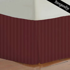 Drop Length Stripes - Burgundy 100% Egyptian Cotton Bed Skirt { 1Pc } 800 Thread