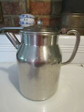 Vintage POLAR 18-8 Stainless Steel Large Pitcher 1 Gallon S-400 12-54 w/lid