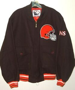 VTG 2005 CLEVELAND BROWNS NFL MITCHELL & NESS WOOL QUILTED INSULATED JACKET 44