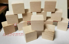 1 Inch Wood Cubes, MADE IN USA, Unfinished all hardwood Blocks 40 blocks