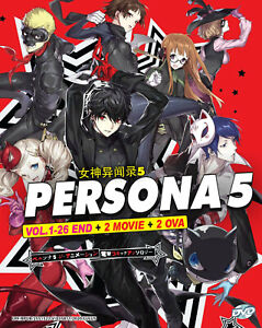 PERSONA 5 THE ANIMATION - ANIME TV DVD (1-26 EPS + 2 MOVIE + 2 OVA) (ENG DUB)