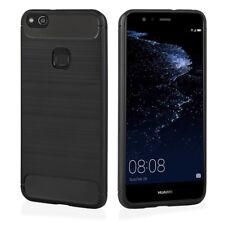 ^ CARBON LUX Tasche Cover Back Case Schutz Hülle Für Huawei Mate 20 SCHWARZ