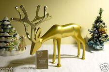 Reindeer Deer Golden Metal Glitter Antlers Christmas Holiday Decor Figurine Gift