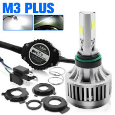 H4 9003 COB LED Headlight Kit Motorcycle Hi/Lo Beam Fog Driving Light Bulb 6000K