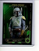 2019 STAR WARS MASTERWORK #11 GREEN BASE CARD BOBA FETT PARALLEL 74/99 NUMBERED