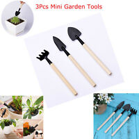 3pcs Garden Tool Equipment Shovel Rake Spade Wood Handle Metal Head Kids Tools