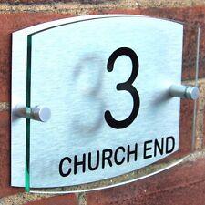 MODERN HOUSE SIGN PLAQUE DOOR NUMBER ADDRESS PLATE A031