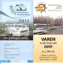 Ghent Gent Benelux Rederij Tour Boat Trip MV White Star up to 12 pages 2012