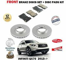 FOR INFINITI QX70 3.0DT 3.7 5.0 2013 >NEW FRONT BRAKE DISCS SET + DISC PADS KIT