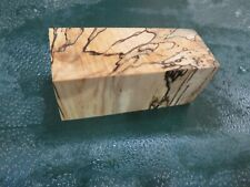 MM-SPALTED  MAPLE  DELUXE  KNIFE BLOCK/SCALES/ CALLS/ PEN BLANKS--M--37