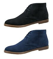 Scarpe polacchine uomo scamosciate nero blu calzature inglesine casual eleganti