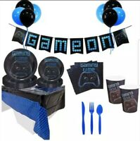 Video Game Birthday Party Supplies Set ~ Gamer Party Set ~ Serves 16 Gamers ~