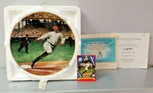 "TY COBB ""The Georgia Peach"" Bradford Exchange Collectable 8"" Baseball Plate MIB"