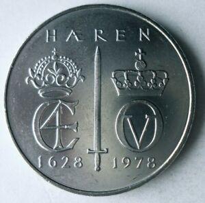 1978 NORWAY 5 KRONER - AU - NORWEGIAN ARMY - Commemorative Coin - Lot #L20