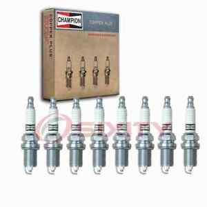 8 pc Champion Copper Plus Spark Plugs for 2006-2010 BMW 550i 4.8L V8 lo