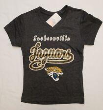 Jacksonville Jaguars NFL Team Apparel Youth Girls V-Neck Tee Shirt Large (10/12)