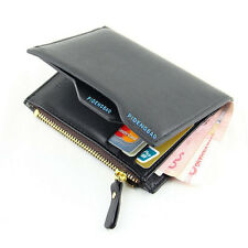 Uomo Portafoglio In Similpelle Borsetta identità porta carte di credito Pochette